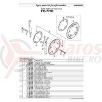 Foaie Shimano FC-7700 44T pentru triathlon 56-44T
