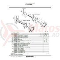 Foaie Shimano FC-S500 39t