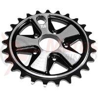 Foaie TLC Vintage 5-Spoke BMX Negru 25T