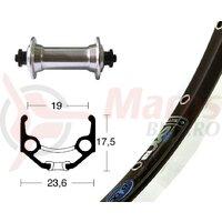 Roata fata 28x1.75 TX800 silver, SSP 36H, Rigida Zac 19