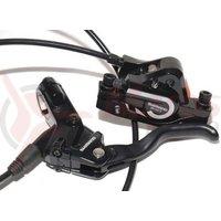 Frana hidraulica disc spate Shimano BL-M575/BR-M575 adaptor IS placute resin 1700mm neagra