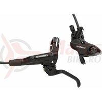Frana pe disc Shimano BL-MT501(L) BR-MT520(F) J-KIT fara adaptor placute metal (fara aripioare) furtun SM-BH90-SS 1000mm negru