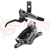 Frana pe disc Shimano XTR BL-M9120(R) BR-M9120(R) fara adaptor placute metal cu aripioare de racire furtun SM-BH90-SBM 1700mm negru