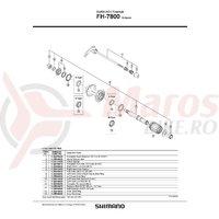Freewheel body Shimano FH-7800