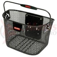 front basket Klickfix Mini 29x20x19 cm black close meshed