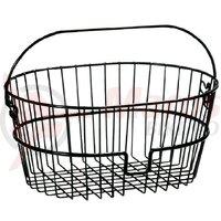 front basket Klickfix Standard 41x19x30cm, black, wide meshed