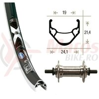 Roata fata 20x1.75 aluminiu groove 36 hole Rigida X-Star 19