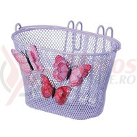 Cos bicicleta fata Basil Jasmin purple 28X20X19 cm, close-mesh