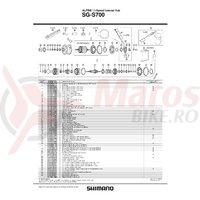 Garnitura etansa de praf Shimano SG-S700 dreapta