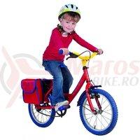 Geanta portbagaj pentru bicicleta copii 22,5x10x24cm rosu/albastru