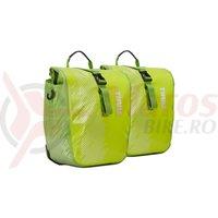 Pereche genti Thule PNP Shield Pannier 14l pe portbagaj verde