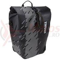 Geanta Thule PNP Shield Pannier pe portbagaj, in pereche, mare, gri inchis/negru