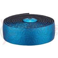 Ghidolina Supacaz Bling Tape - albastru anodizat w/ capace albastru anodizat + Silicone Gel