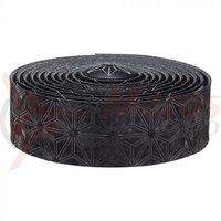 Ghidolina Supacaz Velvet - negru w/ capace negru anodizat + Silicone Gel