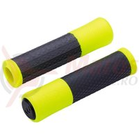 Gripuri BBB Viper 130mm negru/galben neon
