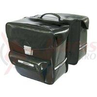 Haberland double bag, water repellent black 32x34x16 cm, 35 litres