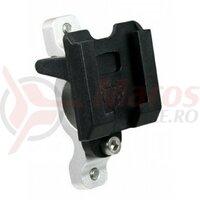 Handlebar Adapter T-One pylon, ? 22,2 mm Alu./ plastic, bottle holder and pocket