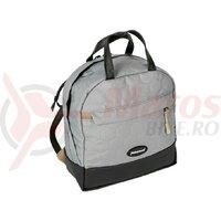 handlebar bag Haberland Bella black/light silver 24x26x12cm 7l