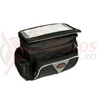 handlebar bag Haberland Maxi black, 27x20x14cm, 8l