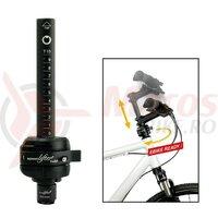 Adaptor pipa reglabil SpeedLifterTwist T15 25.4mm, 39,5mm, black, 15cm