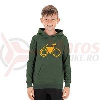 Hanorac Cube Junior Hoody Bike verde