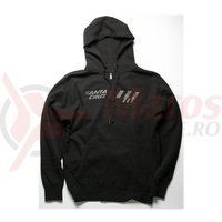 Hanorac Santa Cruz New Strip Zip Hoodie Black