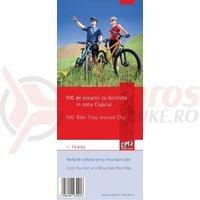 Harta cicloturistica 100 de excursii cu bicicleta in zona Clujului