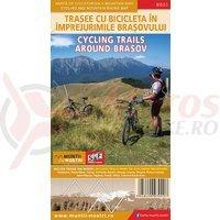 Harta cicloturistica Trasee cu bicicleta in imprejurimile Brasovului