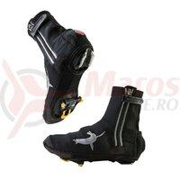 Husa pantofi SealSkinz neopr. Halo waterproof black with flash light