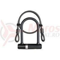 Incuietoare Axa Newton UL MINI  cablu 100*10mm negru