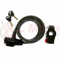 Incuietoare cablu CROSSER CL-823 10x1800mm - Negru