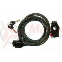 Incuietoare cablu CROSSER CL-823 12x1800mm - Negru