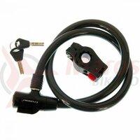 Incuietoare cablu CROSSER CL-823 15x900mm - Negru