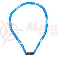 Incuietoare cu lant Axa Rigid RCC 120cm/3,5mm albastru cu cifru