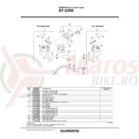 Indicator lens Shimano ST-2300 stanga sau dreapta (same spec)