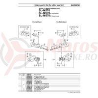 Indicator Shimano SL-M570 stanga