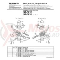 Indicator Shimano ST-EF20 dreapta