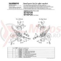 Indicator Shimano ST-EF20 stanga