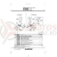 Indicator Shimano ST-EF29 stanga & suruburi de fixare