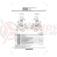 Indicator Shimano ST-EF33 stanga 3v
