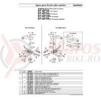 Indicator Shimano ST-EF35 dreapta 7v & suruburi