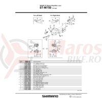 Indicator Shimano ST-M750 dreapta