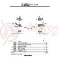 Indicator unit Shimano SL-M7000 dreapta