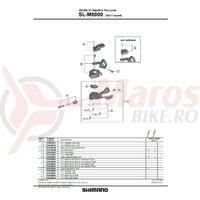 Indicator unit Shimano SL-M8000 dreapta