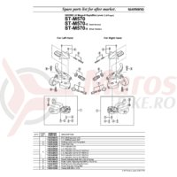 Indicator unit Shimano ST-M570 dreapta