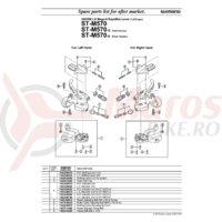 Indicator unit Shimano ST-M570 stanga
