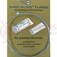 Interior brake cable-steel, bulb nipple 1800 mm lg.,1,5 mm ?, single packed