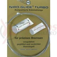 Interior brake cable,steel, bulb nipple 800 mm lg.,1,5 mm ?, single packed