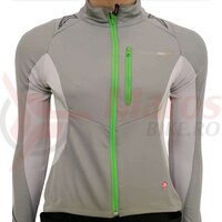 Jacheta wind stopper Shimano mtb soft shell femei sand gray / lime green