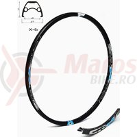 Janta CROSSER X6 27.5'' 32H negru / albastru - capsata
